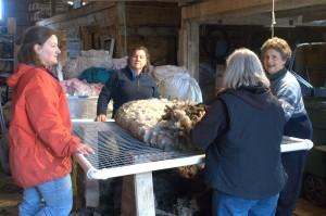 rolling up the fleece