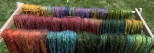A little color here and there...pretty skeins!