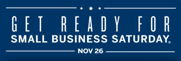 color graphic: Get Ready for Small Business Saturday