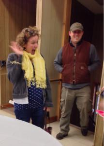 Rachel and Aaron arrive...surprise!!