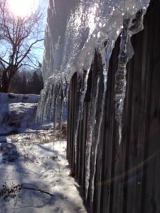 sliding ice sculpture
