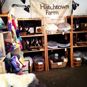 color photo: Instagram pic of the Hatchtown booth at the Maine Fiber Frolic